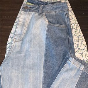 GIANNI BINI SIZE MEDIUM TWO TONED JEANS